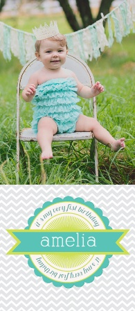 The Very First Birthdays first birthday invitations are a great way to kick off your little one's special occasion! Customize the color and fonts to fit accordingly and view it instantly with our instant online preview.