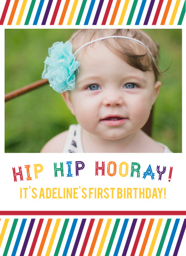 The Hip Hip Hooray First Birthday Invitations are sure to bring a smile to your guest's face.