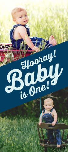 Baby is One first birthday invitations are great way to kick off your little one's special occasion. Add a photo of your adorable boy or girl and it'll for sure get guests excited to celebrate with your soon to be one year old!
