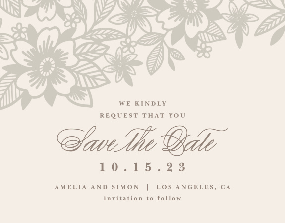 The Elegant Lace Save The Date Magnet is awesome, and totally customizable!