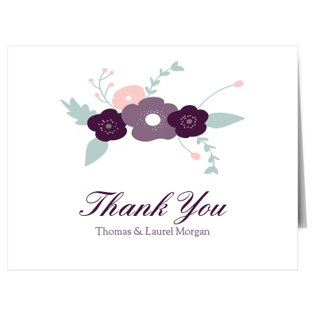 The bold design of The Fantastically Floral thank you card is a modern, yet sophisticated way to thank your friends and family for their generosity.