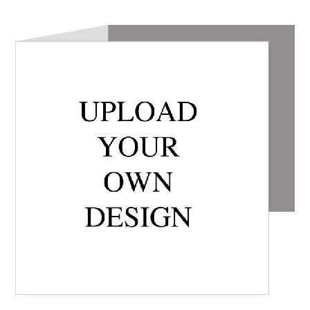 Upload Your Own Design Square Tri-fold Wedding Invitation