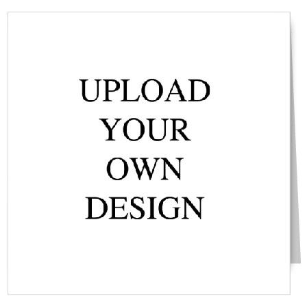Upload Your Own Design Square Fold Portrait Wedding Invitation