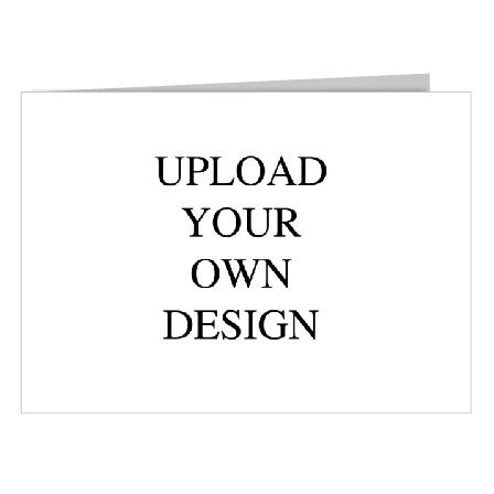 Upload Your Own Design Short Fold Landscape Wedding Invitation