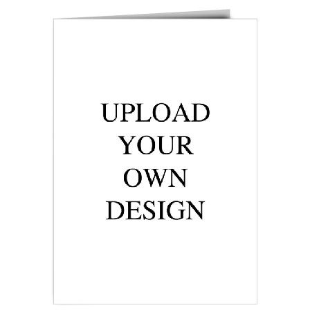 Upload Your Own Design Book Fold Portrait Wedding Invitation