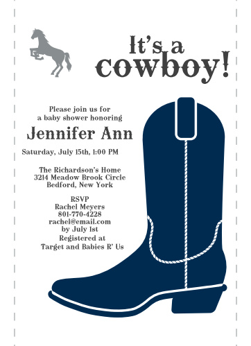 Western baby shower invitations match your color style free cowboy boots baby shower invitations filmwisefo