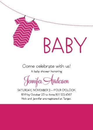 Baby shower invitations for girls basic invite girl onesie clothesline baby shower invitation filmwisefo