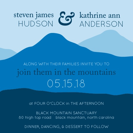 Mountain Wedding Invitations Match Your Color Style Free