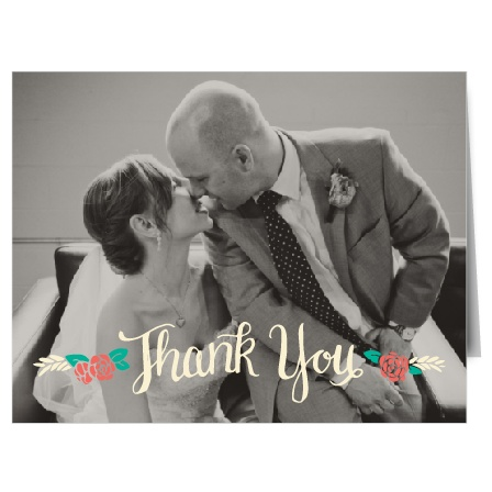 The Floral Whimsy is a stylish and bold thank you note that will help you say thank you to all your guests in a way that will reflect your taste and personality.