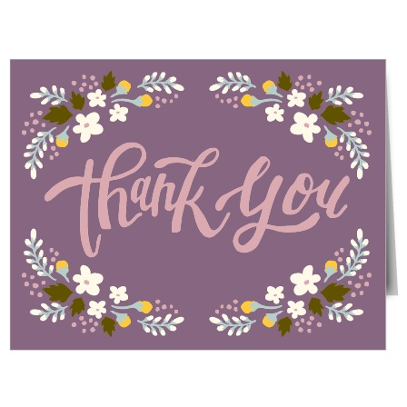 The Floral Celebration is a stylish and bold thank you note that will help you say thank you to all your guests in a way that will reflect your taste and personality.