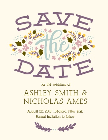 The Floral Celebration Save The Date Magnet is awesome, and totally customizable!