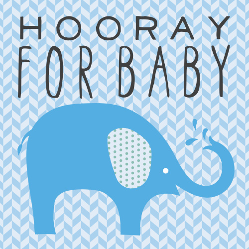The Polka Dot Elephant baby shower invitation is a double sided square invitation with completely customizable text and colors.