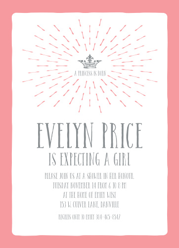 Princess baby shower invitations match your color style free crowned princess baby shower invitations filmwisefo