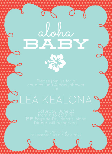 Luau baby shower invitations match your color style free floral aloha baby shower invitations filmwisefo
