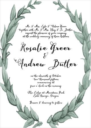 Leafy Love Wedding Invitation