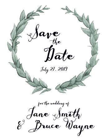 The Leafy Love save the date card has super cool! Totally customizable too!