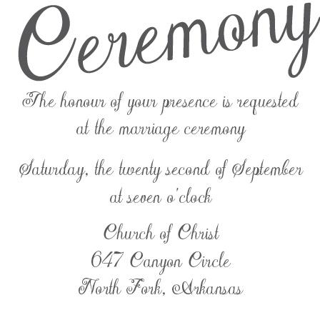 The Plain Elegance Ceremony Cards