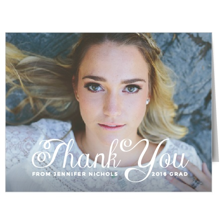 The Plain Elegance is a stylish and bold thank you note that will help you say thank you to all your guests in a way that will reflect your taste and personality.
