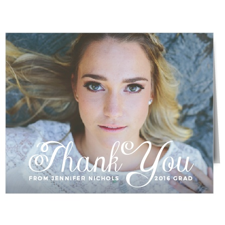 The Plain Elegance Thank You Card