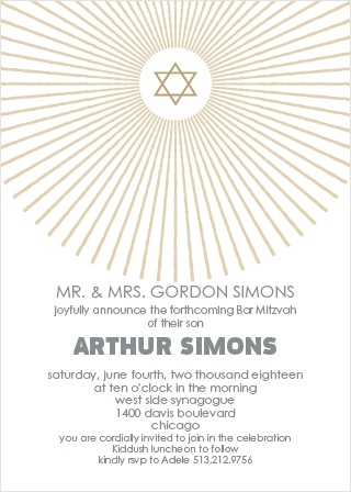 With its too cool star illustration, and clear as day wording, this invite is the perfect combination of cool and classy.