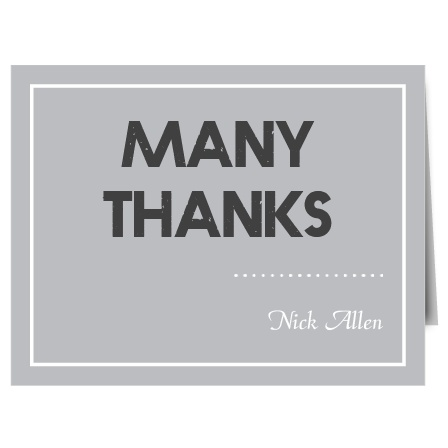 Banner Year thank you cards are the perfect compliment to the matching Banner Year graduation announcement.