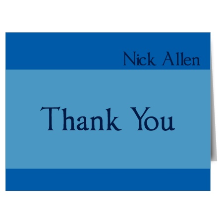 The Beginning And End thank you cards are a simple design that can be personalized in minutes to match the Beginning And End graduation announcements for a perfect pair.