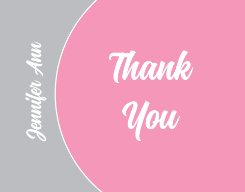 The Bordered Half Circle thank you cards are a fun design with almost unlimited color options. Update the colors of both circles, borders, and text with a real-time online preview.