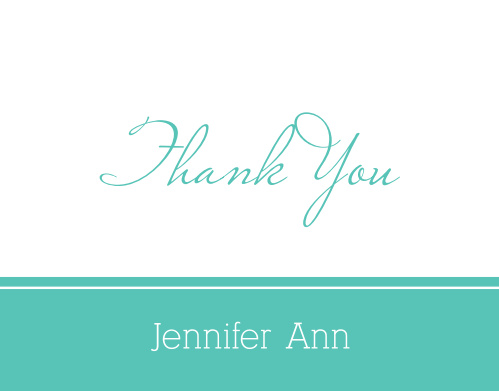 The Class Title graduation thank you cards are traditional design that is perfect for thanking those close friends and family members for being part of your life.