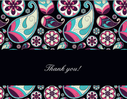The Crazy Paisley graduation thank you cards will grab your recipients attention with an out of this world paisley pattern that can be personalized to have almost unlimited color combinations.