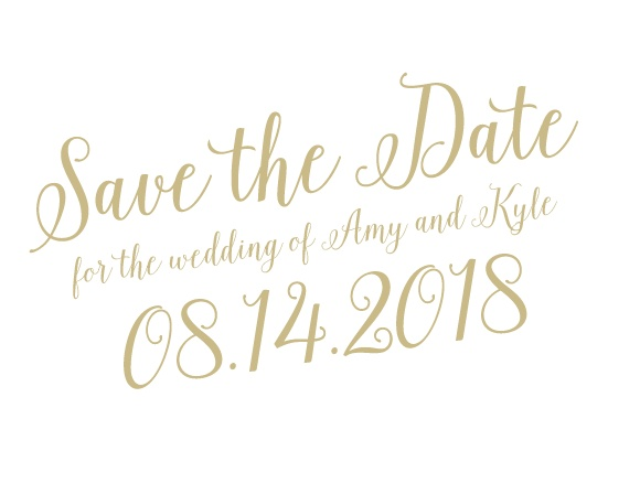 The Calligraphic Slant save the date card has super cool! Totally customizable too!