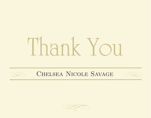 Impress your friends and family with the Elegance graduation thank you cards.