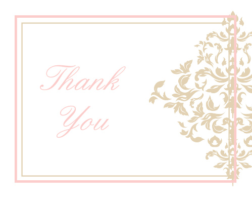 If you are looking for a thank you card that stands out then the Elegant Damask graduation thank you cards are the right card for you.