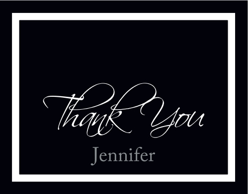 The Elegant Simplicity graduation thank you cards offer a clean simple design that can be used for any occasion.