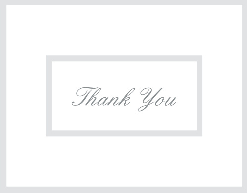 The Elegantly Framed graduation thank you cards let you pick your pattern that surrounds the centered thank you and then change the color of each border to match your own style.
