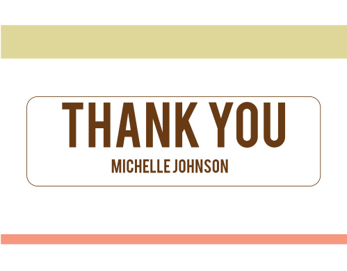 The Memorable Year graduation thank you cards are a modern design with a bold badge in the middle to put your message as well as your name.