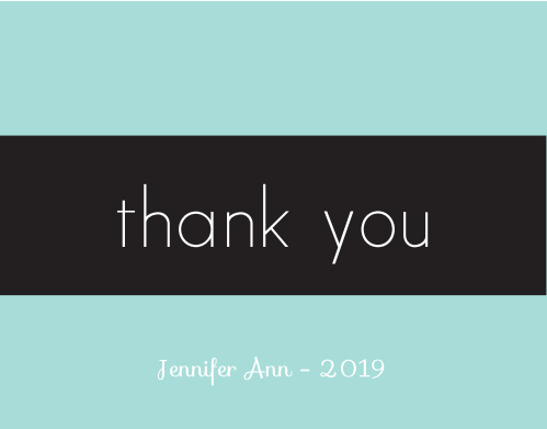 The Modern Classman graduation thank you cards are simple and sleek. Choose your color to match you style.