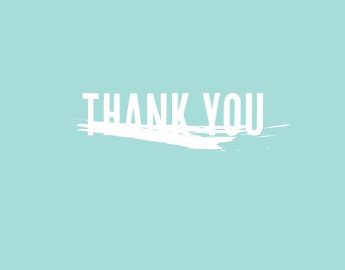 The Paint Brush graduation thank you cards have a splash of paint below the thank you message that can be changed to over 160 different colors.