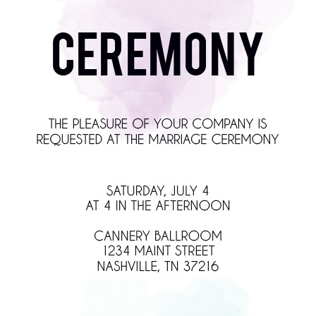 The Watercolor Dip Ceremony Cards
