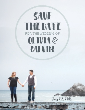 The Rocky Beach Stamp Save-the-Date Cards