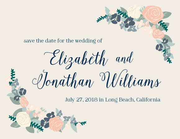 The Illustrated Corner Wreath save the date card is super cool! Totally customizable too!