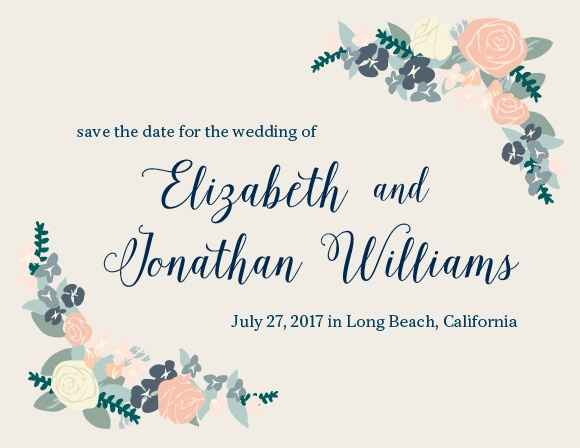 The Illustrated Corner Wreath Save The Date Magnet is awesome, and totally customizable!