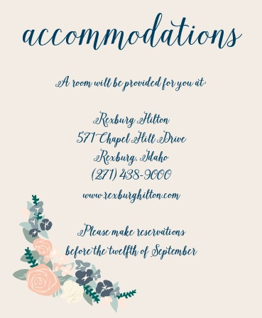 One size fits all accommodations card.