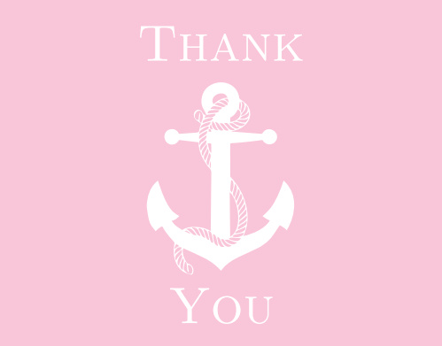 Make sure to express your gratitude to your guests with the Baby Anchor baby shower thank you cards.