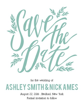 The Simple Wreath save the date card has super cool! Totally customizable too!