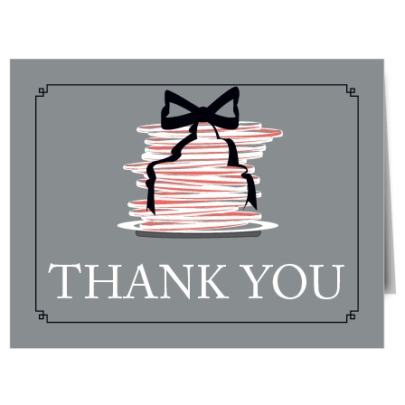 The Pancakes bridal shower thank you cards are a great fit for any brunch themed shower.
