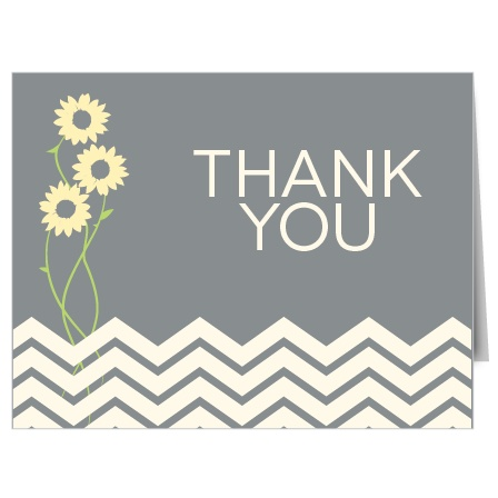 Sunflower Bridal Shower Thank You Cards