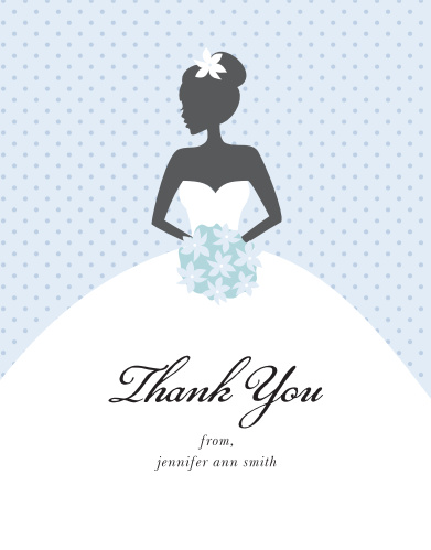 wedding shower thank you card
