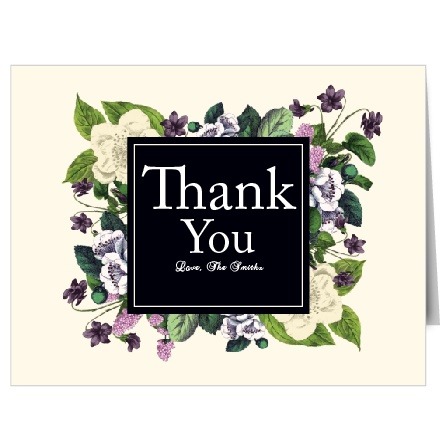 Vintage Botanical Thank You Cards