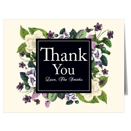 The Vintage Botanical thank you cards with it floral design and almost rustic feel gives you a unique way to tell your close friends and family how much you appreciate them.