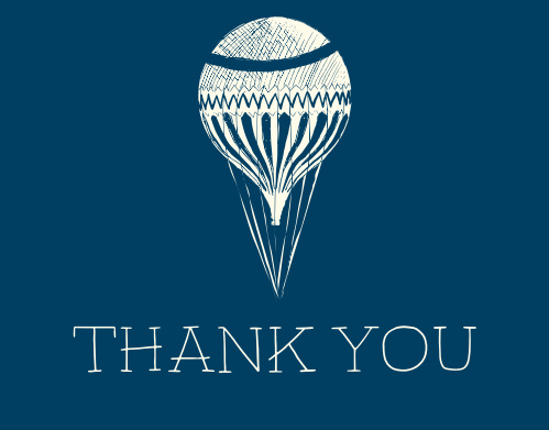 The Air Balloon Boy thank you cards are the perfect way to show gratitude for those who helped welcome your latest addition, while maintaining your theme.